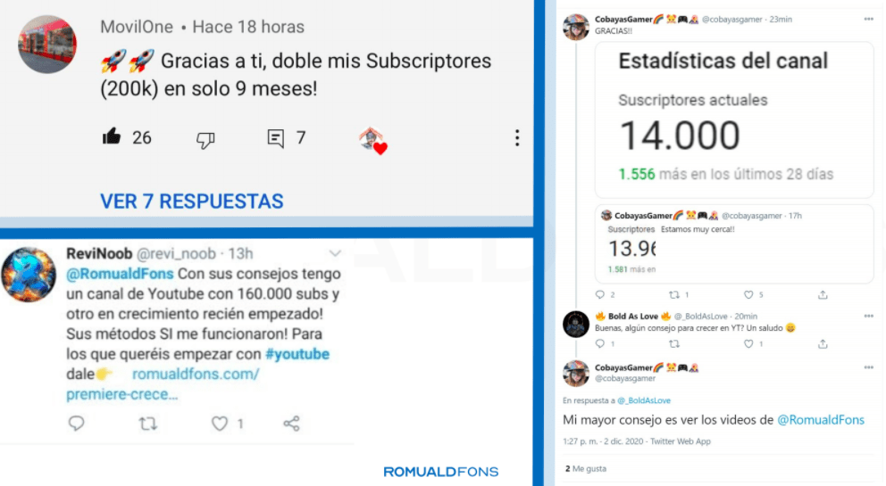 caso de éxito crecetube, curso de youtube